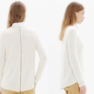 Madewell Back Zip Pullover Sweater
